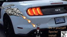 Spoiler install on my 2019 Mustang GT Convertible Instant Video, Gta, Mustang, Convertible, Youtube, Mustangs, Infinity Dress, Mustang Cars, Youtubers