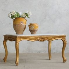 Vintage Louis XV Style Coffee Table in Gold Gilt Shabby Chic Coffee Table, Beautiful Living Rooms, My Happy Place, Gold, Vintage, Furniture, Home Decor, Style, Swag