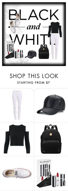 """""""Black and White"""" by kate-designs ❤ liked on Polyvore featuring Converse and Givenchy"""