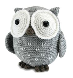 "Koko the Owl Crochet pattern by Megan Barclay | Crochet Patterns | LoveCrochet/ beginner / 9"" tall/ CROCHET/ tubby owl that is huggable & cute to boot!"