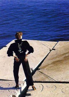 Yves Saint Laurent, photo by Helmut Newton*
