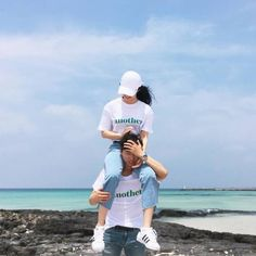 Imagen de blue, sea, and ulzzang couple