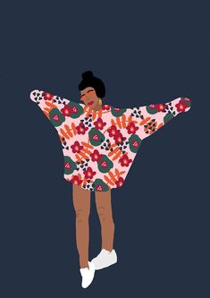 These days, I'll take all the positivity that I can get, which explains why I've been so drawn to lighthearted illustrations such as those of artist Rafaela Mascaro. Her work, each filled with clashing patterns, vibrant… Art Et Illustration, People Illustration, Pop Art, Arte Indie, Affinity Designer, Feminist Art, Illustrations Posters, Animal Illustrations, Vintage Illustrations