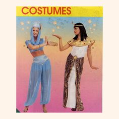 Genie or Cleopatra. One sewing pattern to make two fun costumes!