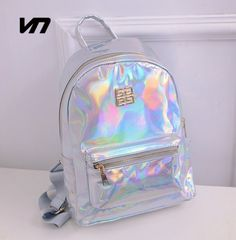 2016 Summer New Fashion Hologram Laser Backpack Female Student PU Leisure Travel Backpack Casual Multicolor Bag For School Girls [Affiliate]