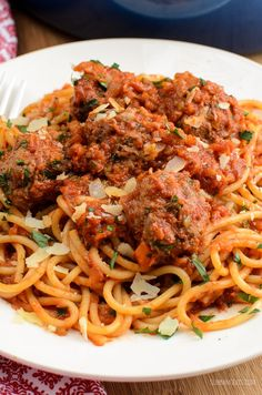 Syn Free Spaghetti and Meatballs - gluten free, dairy free, Slimming World and Weight Watchers friendly