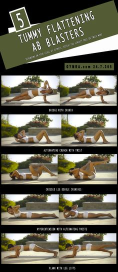 Abs Workout. Trim your waist, strengthen your core, and help avoid back problems by improving your posture‬