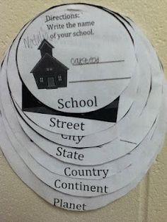 Where do I live? Social Studies - categorizing?