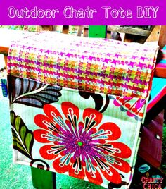 Outdoor Chair Totes - Free Sewing Tutorial + Upcycled Embroidered Blouse to Bag