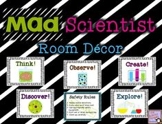 Mad Scientist Room Decorations $ {Science Classroom Posters)