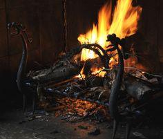 Emery & cie - Shop Windows - 2010 Fall - Fireplace - Dragons Firedogs