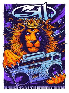 311 Costa Mesa Poster by Brandon Heart
