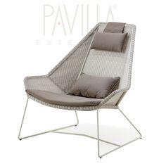 BREEZE • Hochlehner / Sessel • Schwarz oder Weißgrau • cane-line » PAVILLA Online-Shop