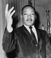 Martin Luther King, Jr. was a pastor and powerful speaker who shaped the American civil rights movement. On the 100th anniversary of the Emancipation Proclamation, he led the march to Washington D.C. demanding equal rights for minorities.