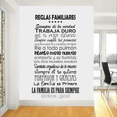 La Familia Flirt, Decoration, Ideas Para, Sweet Home, New Homes, Inspirational Quotes, Positivity, House Design, Lettering