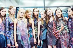 SS16 Digital Revolution, Future Trends, Mary Katrantzou, Spring Summer 2016, Ss16, Backstage, Ready To Wear, Cover Up, Dress Up