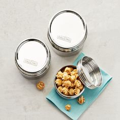 Dalcini Stainless Stainless Steel Set of 3 Twist-Top Containers Stainless Steel Containers, Organic Cleaning Products, Eco Products, Lunch To Go, No Plastic, Food Storage Containers, Cleaning Solutions, Kitchenware, Top
