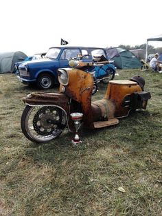Rat Rod Cars, Bagged Trucks, Trike Motorcycle, Mini Bike, Vespa, Scooters, Cars And Motorcycles, Old School, Nostalgia