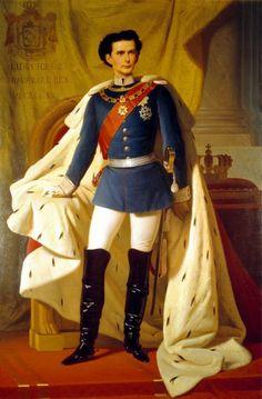 "King Ludwig II of Bavaria……THE MAD KING…..THE GAY KING…….NICKNAME: ""LUDDY BOY""………….ccp"