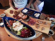 Starters. Three Shields of The Gods menu. Viking restaurant Harald, Helsinki.
