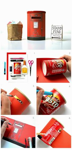 How-to make a post (money) box | Rose Tinted Crafting Royal Mail red Post box UK GB Britain Letter to Santa Christmas Cards