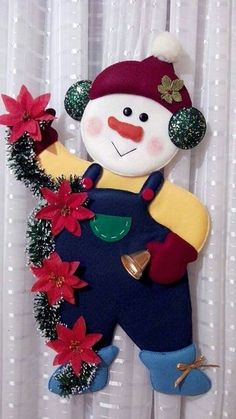 Muñecos planos Felt Christmas, Country Christmas, Christmas Wishes, Christmas Projects, Handmade Christmas, Christmas Stockings, Xmas, Christmas Centerpieces, Christmas Tree Decorations