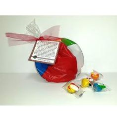 """June 2015 Home Teaching Gift is here! (only $1.95!!)  Home teaching message and a beach ball bag with a small inflatable beach ball and beach ball wrapped gumballs inside! Large orders available; contact us at 435-363-0336  The quote comes directly from the First Presidency Message in the Ensign.  """"We owe our families the kind of relationship we can take into the presence of God. We must try not to give offense or take offense. We can determine to forgive quickly and fully. We can try to… Popcorn Tree, Home Teaching, Invite, Invitations, Beach Ball, Holy Ghost, Party Stores, Gumball, Forgive"""