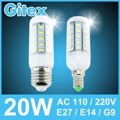 Из светодиодов кукуруза лампа 5730SMD 3 Вт 5 Вт 7 Вт 9 Вт 10 Вт 12 Вт 15 Вт 18 Вт 20 Вт E14 E27 B22 G9 кукуруза лампа AC110v 220 В 240 В хрустальная люстра из светодиодов лампы