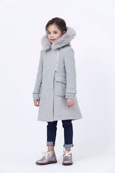Awesome gray knit coat.
