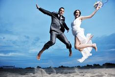 beach wedding poses - Google Search