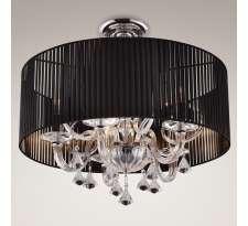 Plafon LAMPA sufitowa CAPRI C C0061 Maxlight abażurowa OPRAWA z kryształkami crystal czarny