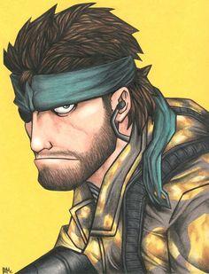 Big Boss - Metal Gear - Cameron Mark Big Boss Metal Gear, Metal Gear Solid Series, Video Game Art, Video Games, Metal Gear Survive, Metal Gear Games, Diamond Dogs, Gear Art, The Best Is Yet To Come