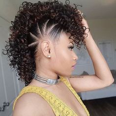 Super cute fauxhawk @thechicnatural - https://blackhairinformation.com/ hairstyle-. Natural Hair HairstylesNatural Hair ...