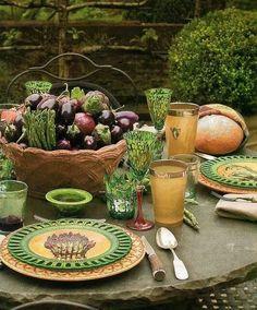 Alfresco with a veggie theme