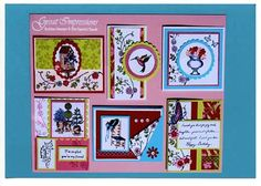 August 2008 DIY Artboard of Cards & Stamps from GreatImpressionsStamps.com