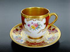 Coalport UK Teacup and Saucer 1892 Vintage Cups, Vintage Coffee, Vintage Tea, Tea Cup Set, Cup And Saucer Set, Tea Cup Saucer, China Tea Cups, Teapots And Cups, Mugs
