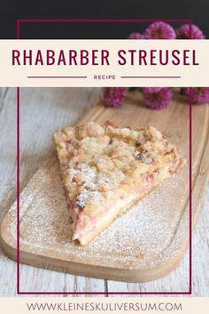 Gefüllter Rhabarber Streusel mit Vanillecreme #Rhabarber #Streusel #Torte #Vanillecreme #Frühling #Rezept