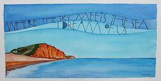 Where the sky meets the sea by samcannonart