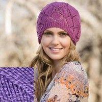 Calamus Knitted Hat Kit in Lavendar - Knitting | InterweaveStore.com