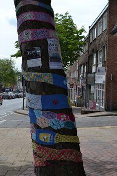 Yarn bombing for Sherwood Art Week 2015