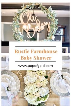 Rustic Farmhouse Baby Shower | Party Blog | #babyshower #rusticfarmhouse #farmhouse #tablescape