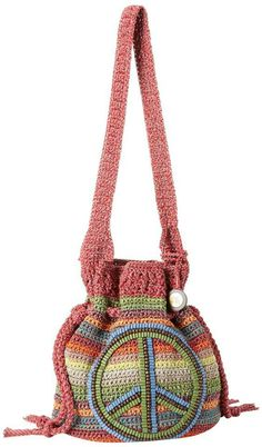 Crocheted bag. Need to make this for Ashley!