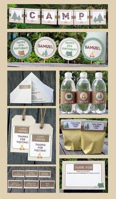 Cute camping themed decorations from Etsy