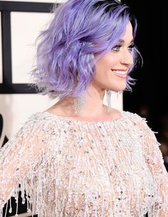 Katy Perry Rocking Purple Hair