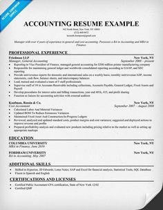 resume examples for accounting jobs