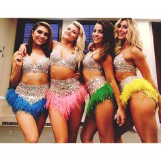 The girls before the show. Dance Outfits, Dance Dresses, Dancing With The Stars Pros, Jenna Johnson, Witney Carson, Ballroom Dress, Costume Dress, Dance Costumes, Beautiful Outfits