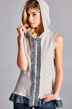 1f5fd525a65 ODDI 'Summer Loving' Vest - This casual and cute knit sleeveless jacket has  a