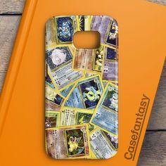 Pokemon Black Bulbasaur Squirtle & Charmander Pikachu Samsung Galaxy S6 Edge Case | casefantasy