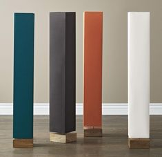 Hues Mood Floor Lamp - We've taken our popular Hues Mood Lamp to great new heights. With a tall, rectangular shade set atop a square mango wood base, this contemporary floor lamp sets the mood with brilliant color and instant ambiance. Wooden Lampshade, Mood Lamps, Painting Lamp Shades, Outdoor Cushions And Pillows, The Company Store, Home Decor Lights, Contemporary Floor Lamps, Rustic Lamps, Bedding Shop