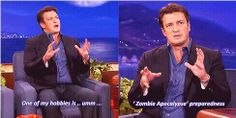 Nathan Fillion and zombies